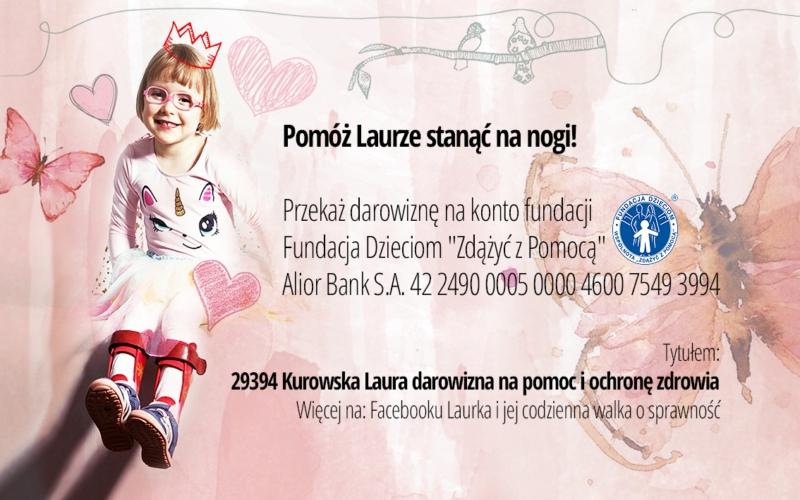 Oglądasz obraz z artykułu: Pomóż Laurce - Przekaż 1% podatku